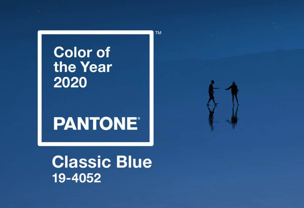 A swatch of Pantones color of the year Classic Blue.