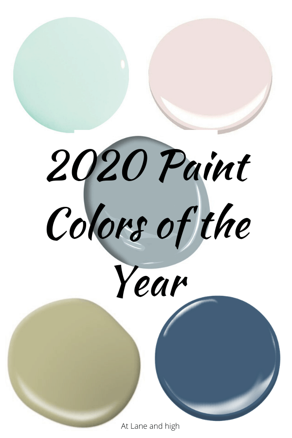 2020 Paint Colors of the Year Pinterest Pin.