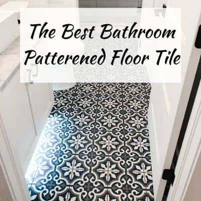 Bathroom Patterned Floor Tile Feature Image