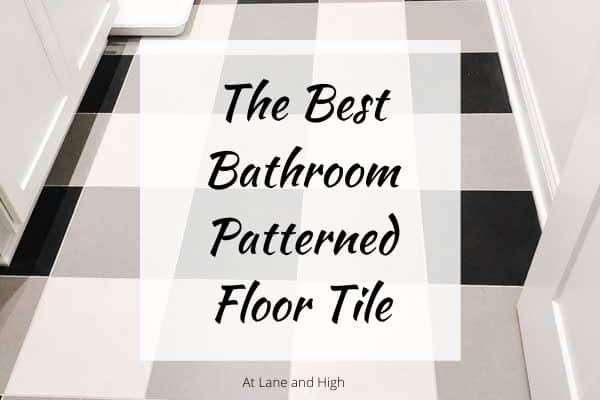Patterned floor tile image.