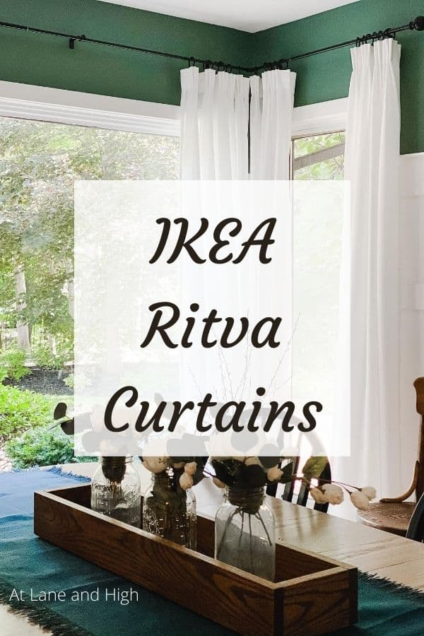 IKEA Ritva curtains pin for pinterest.