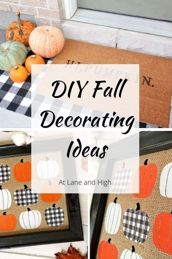 DIY Fall Decorating Ideas pin for pinterest.