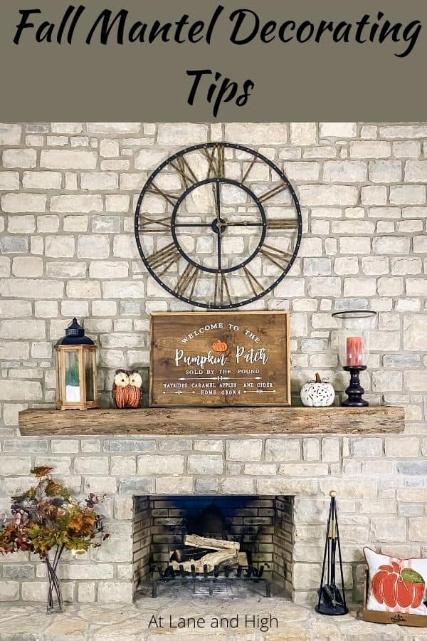 Fall Mantel Decorating Tips Pin for pinterest.