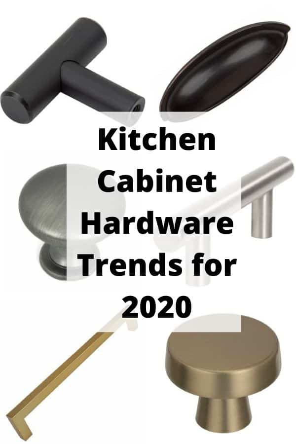 A kitchen cabinet hardware pin for Pinterest.