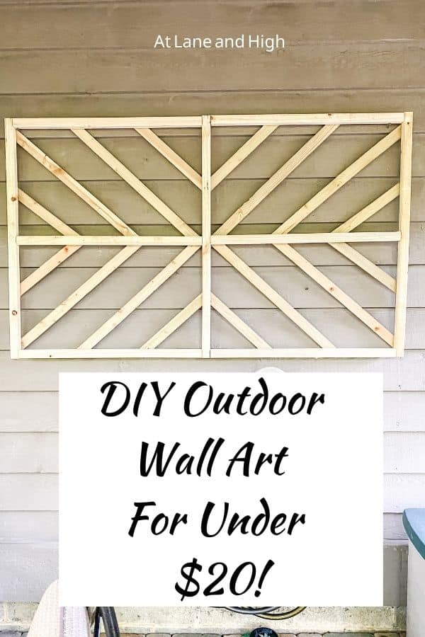Outdoor Wall Art pin for Pinterest.
