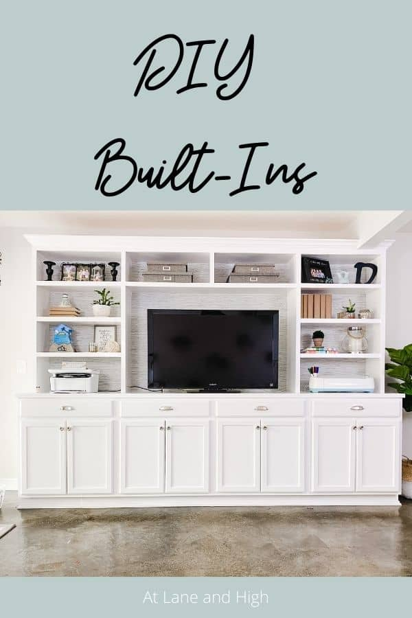 DIY Built-Ins pin for pinterest.