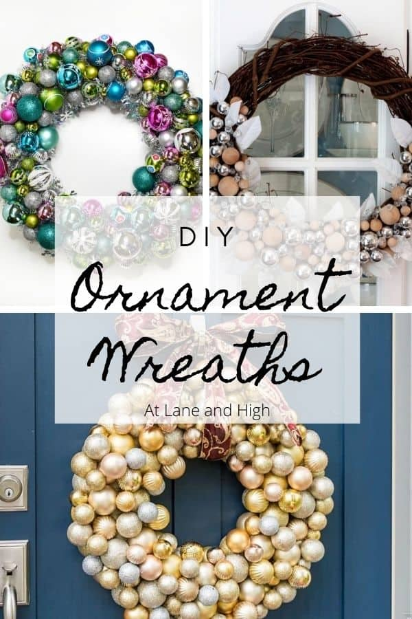 DIY ornament wreaths pin for Pinterest.