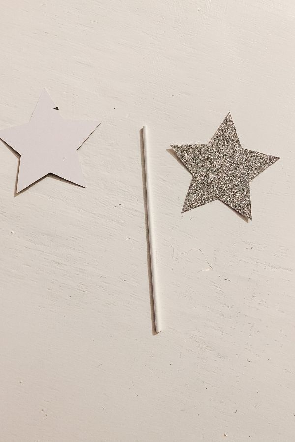 Materials needed to make a star.