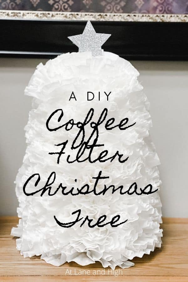Coffee Filter Christmas Tree pin for Pinterest.
