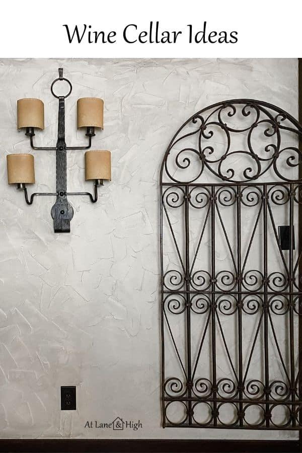 Wine Cellar Ideas Pin for Pinterest.