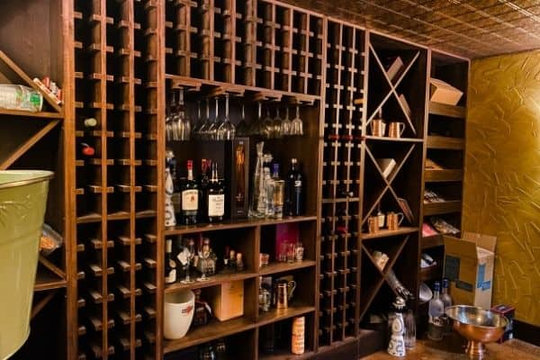 Wine cellar plans to remove the large X's for wine storage and create functional shelves.