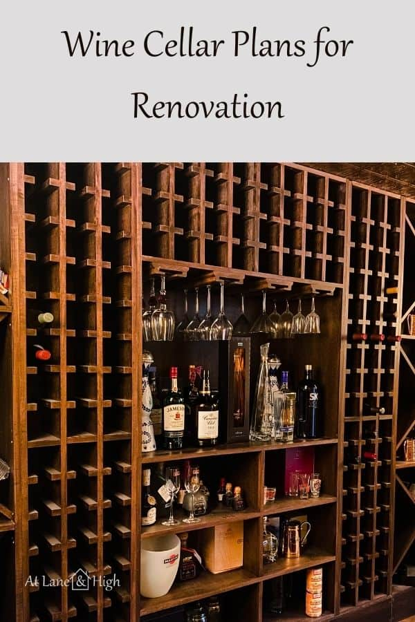 Wine cellar plans pin for Pinterest.