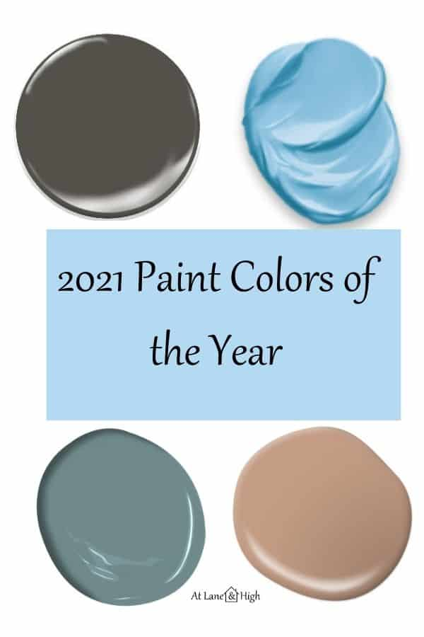 2021 Paint Colors of the Year pin for Pinterest.