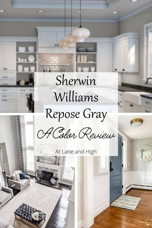 Sherwin Williams Repose Gray pin for Pinterest.