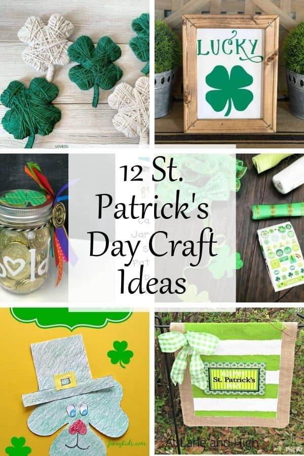 St. Patrick's Day Craft Ideas pin for Pinterest.