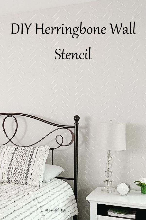 DIY Herringbone Wall Stencil pin for pinterest.