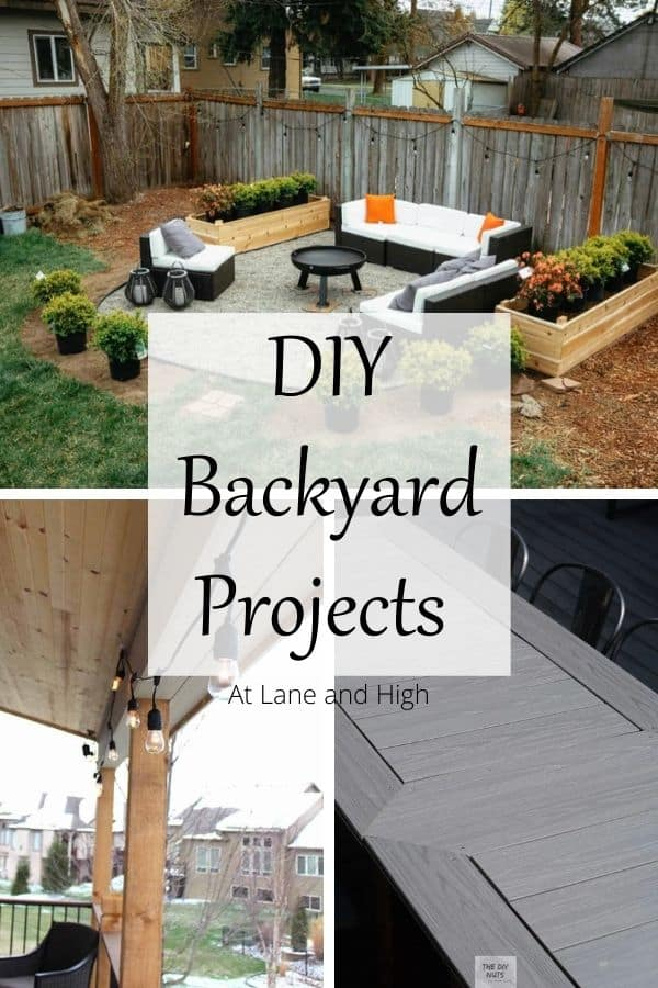 DIY Backyard Projects pin for Pinterest.
