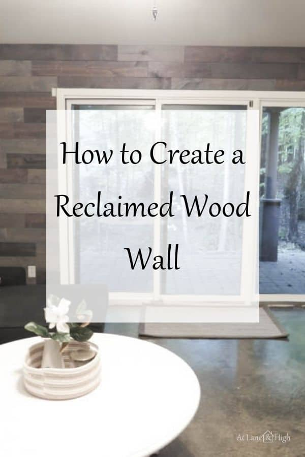 How to Create a Reclaimed Wood wall pin for Pinterest.