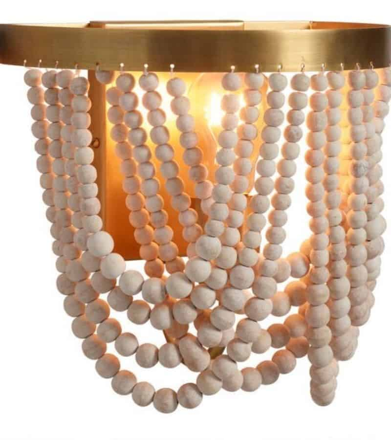 A smaller version of the drapey chandelier that is flush mount.