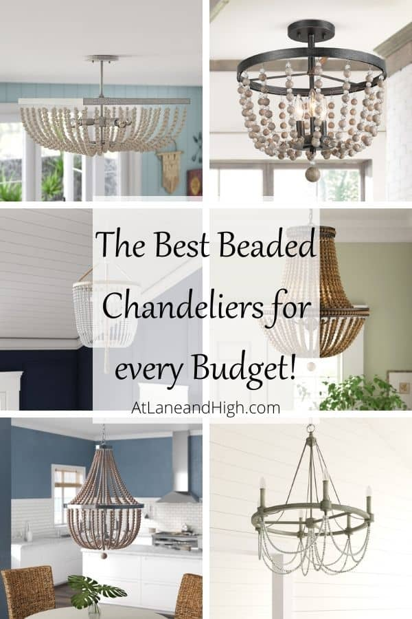 Beaded Chandeliers pin for Pinterest.