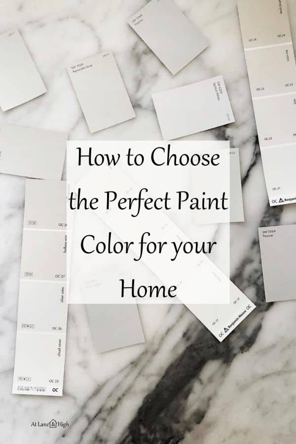 How to Choose the Perfect Paint Color for your Home pin for Pinterest.
