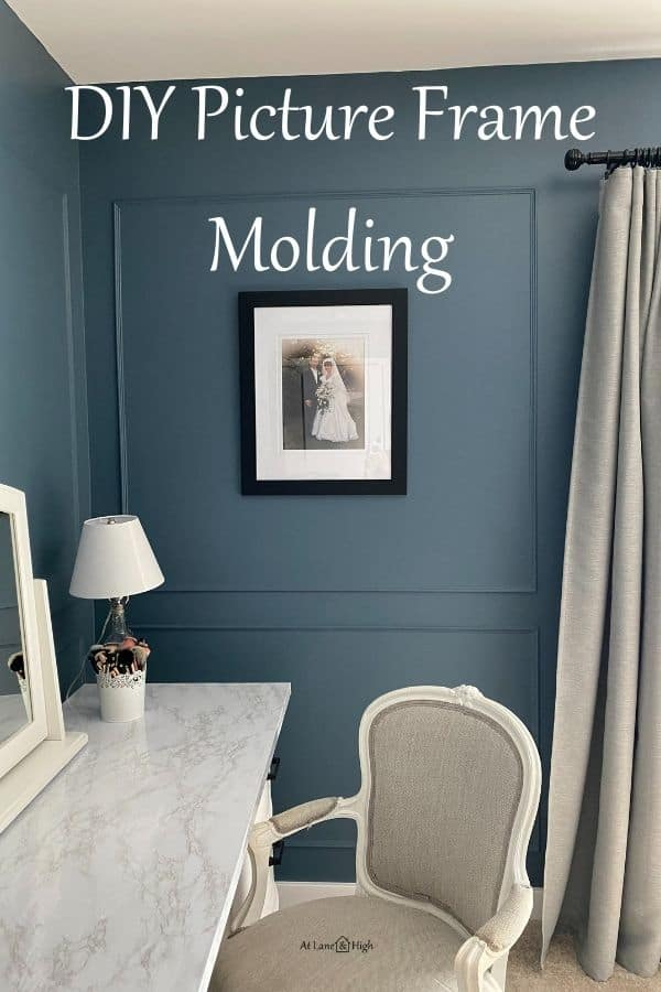 Picture Frame Molding pin for Pinterest.