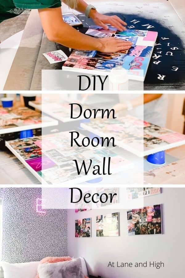DIY Dorm Room Wall Decor Pin for Pinterest.