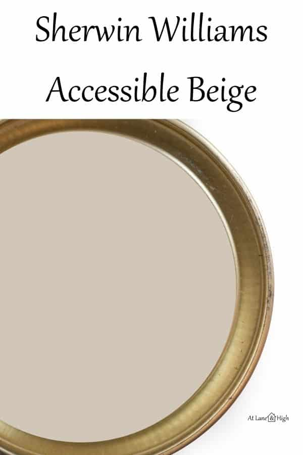 Sherwin Williams Accessible Beige pin for Pinterest.