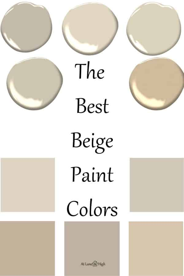 The Best Beige Paint Colors pin for Pinterest.