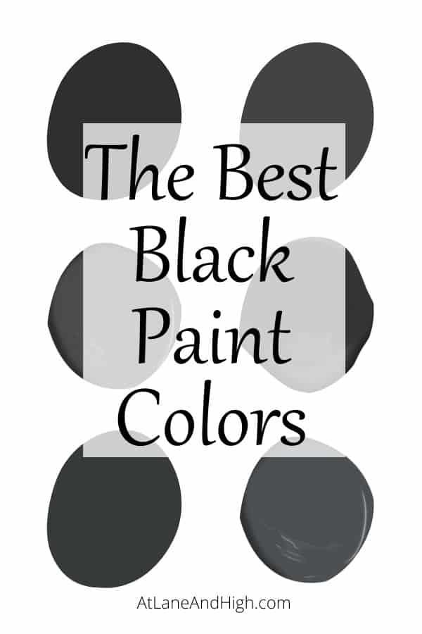 Black paint colors pin for Pinterest.