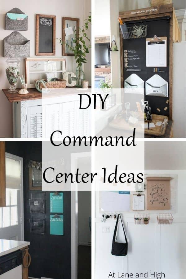 DIY Command Center Ideas pin for Pinterest.
