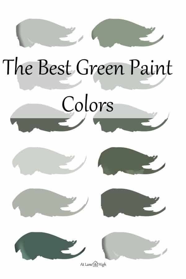 The best green paint colors pin for Pinterest.