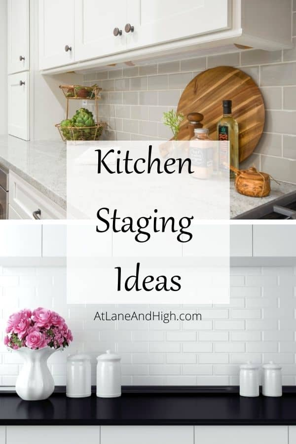 Kitchen Staging Ideas pin for Pinterest.