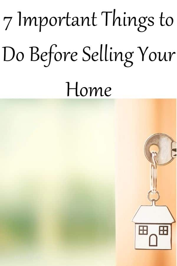 Things to do before selling your home pin for Pinterest.