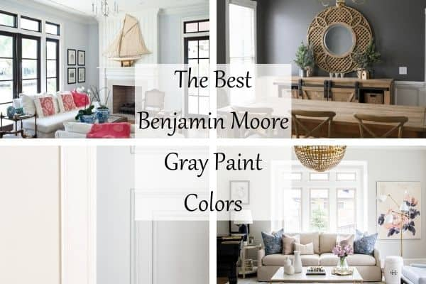 This features four rooms painted in Benjamin Moore gray paint colors.