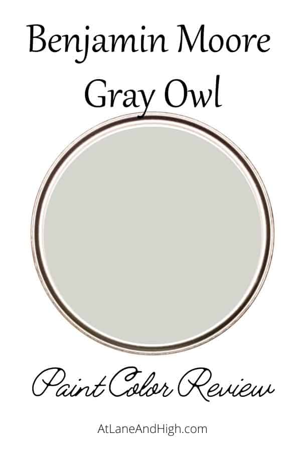 Benjamin Moore Gray Owl pin for Pinterest.