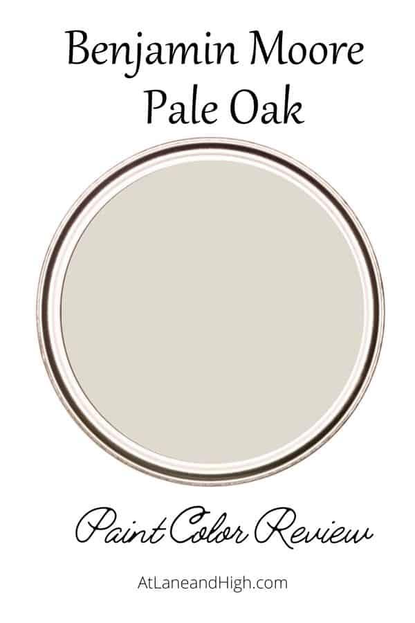 Benjamin Moore Pale Oak pin for Pinterest.