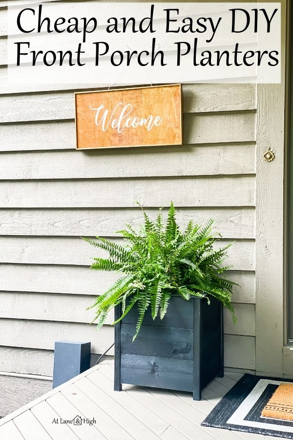 DIY Planters for Front Porch pin for Pinterest.