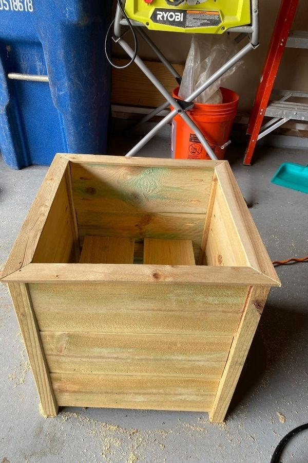 The finished planter box before painting.