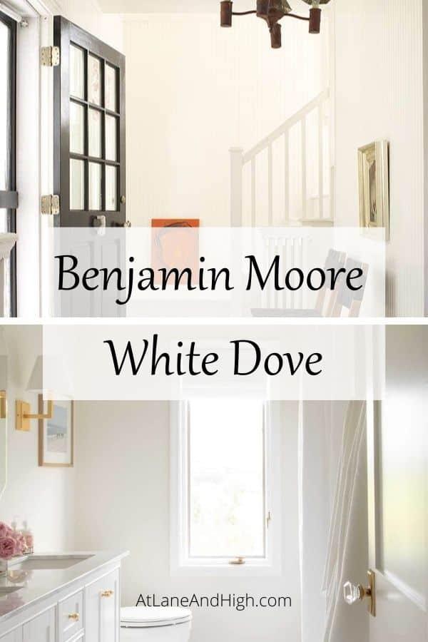 Benjamin Moore White Dove pin for Pinterest.