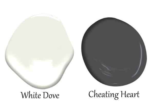 This is a side by side of White Dove and Cheating Heart.