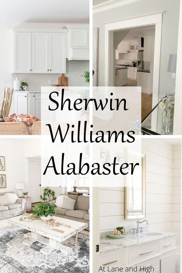 Sherwin Williams Alabaster pin for Pinterest.