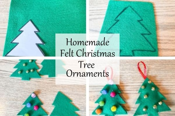 This has four photos showing the process fo making these ornaments.