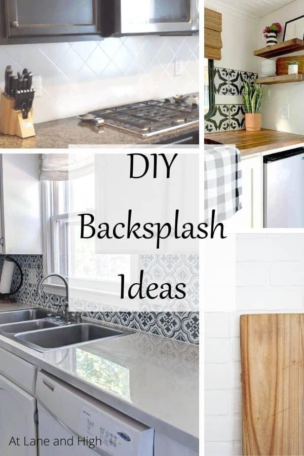 DIY Backsplash Ideas pin for Pinterest.