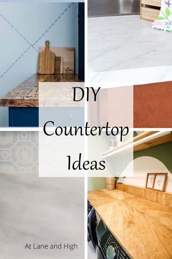 DIY Countertops ideas pin for Pinterest.