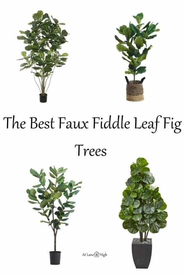 The Best Faux Fiddle Leaf Fig Trees pin for Pinterest.