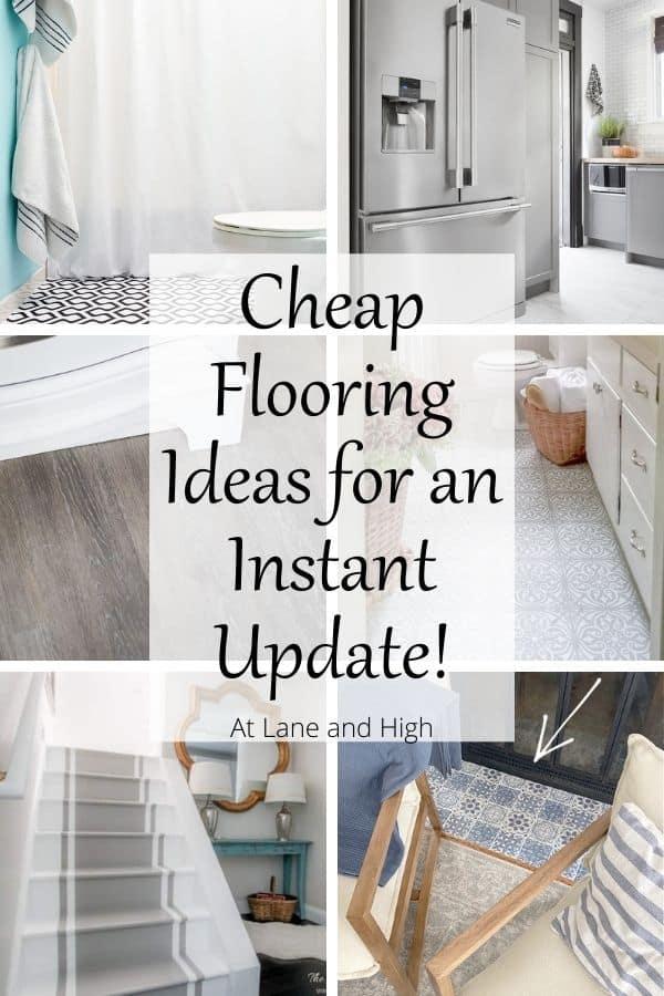 Cheap Flooring Ideas pin for Pinterest.