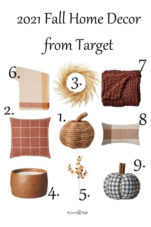 Fall home decor from Target pin for pinterest.