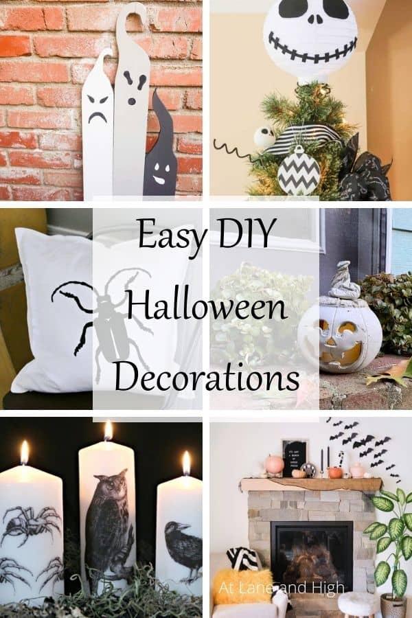 DIY Halloween Decorations pin for Pinterest
