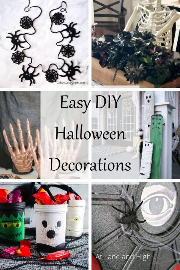 DIY Halloween Decorations pin for Pinterest.